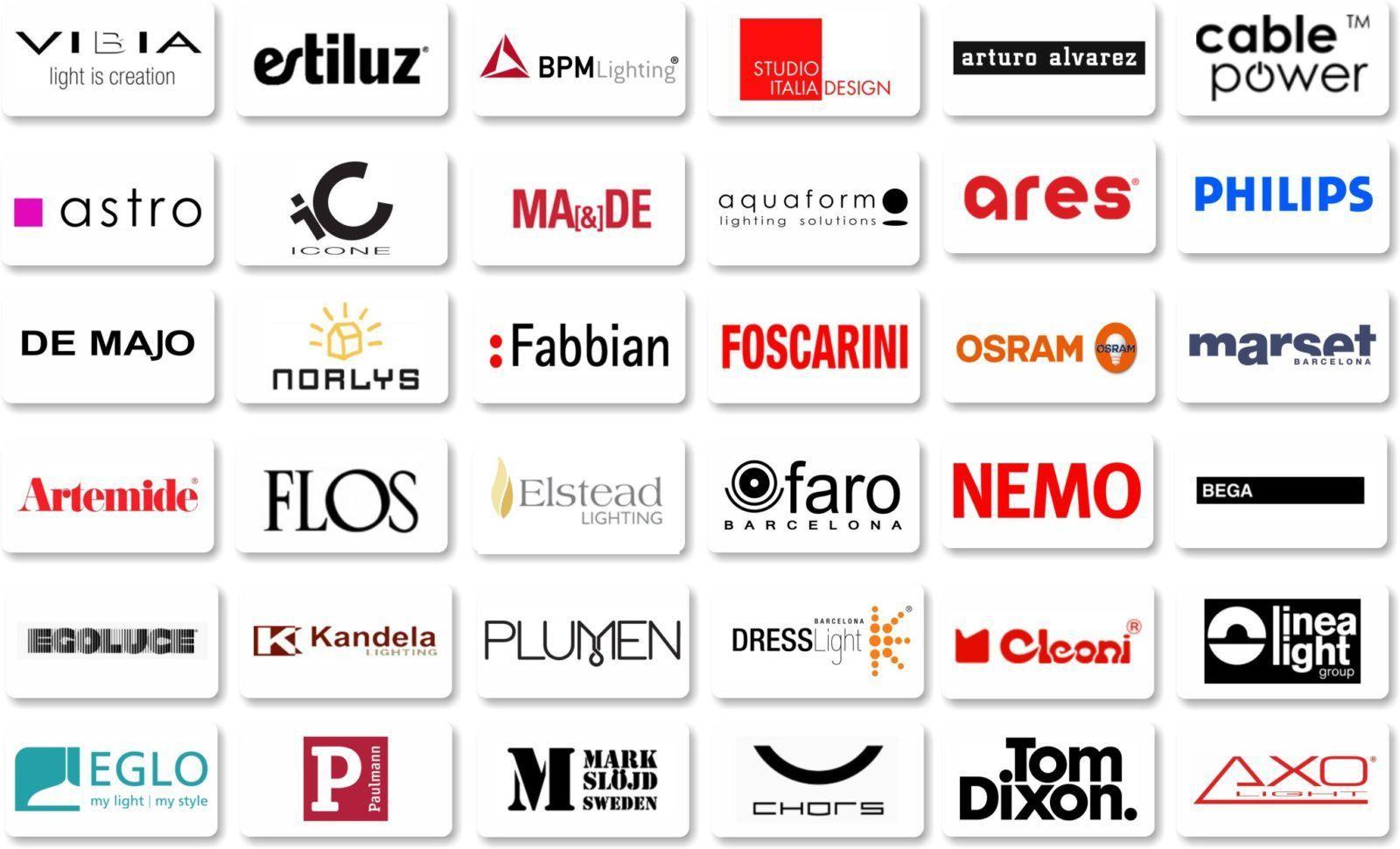 logotypy oświetlenie na www